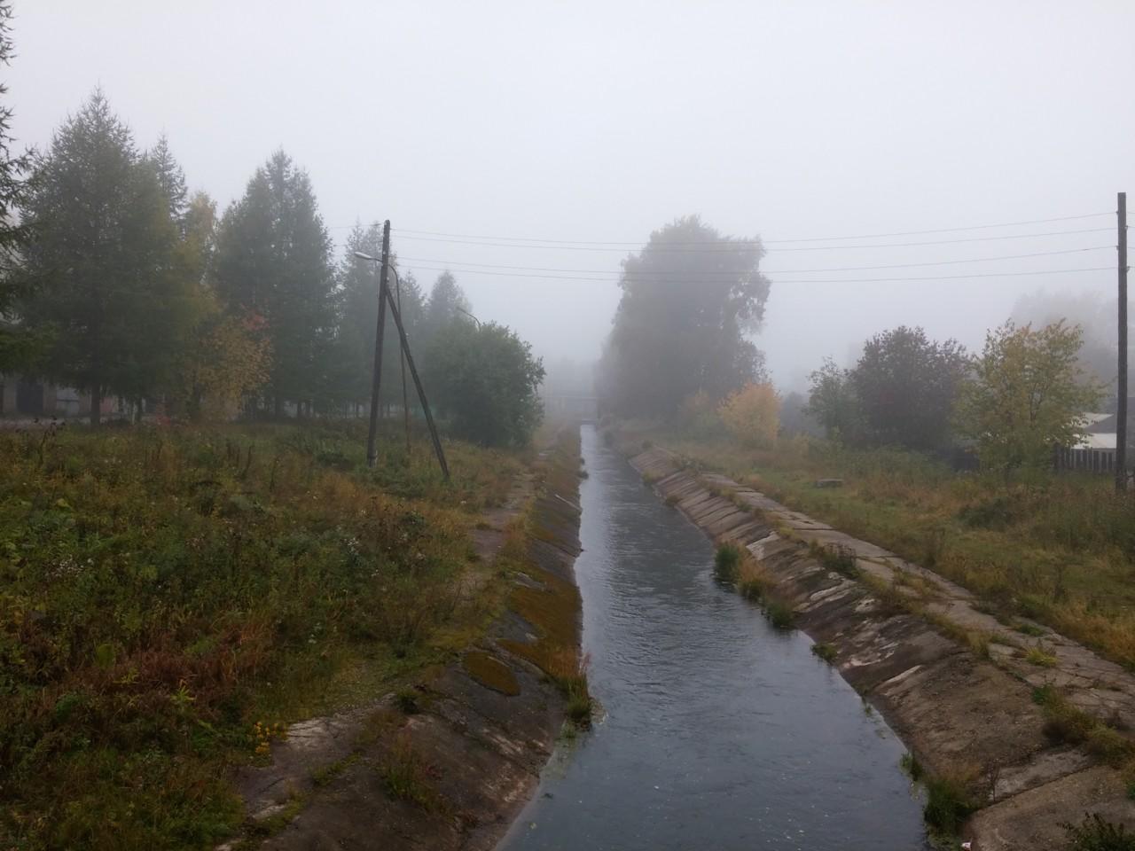Туман. Река Сарайная